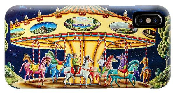 Funfair iPhone Case - Carousel Dreams 3 by MGL Meiklejohn Graphics Licensing