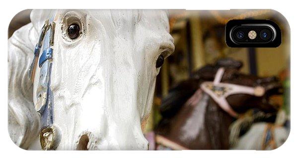 Funfair iPhone Case - Carousel Horse by Bernard Jaubert