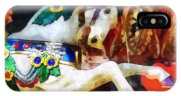 Carousel Horse Closeup IPhone Case