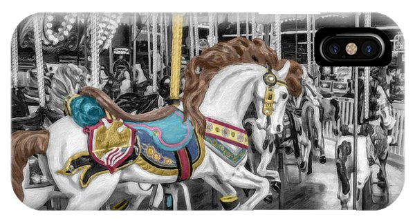 Carousel Horse Equ168125 IPhone Case