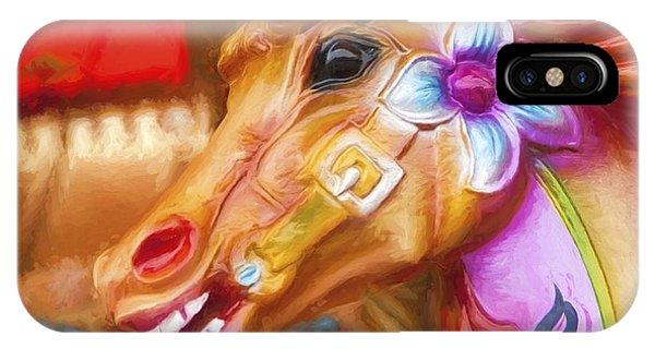 Carousel Horse. IPhone Case