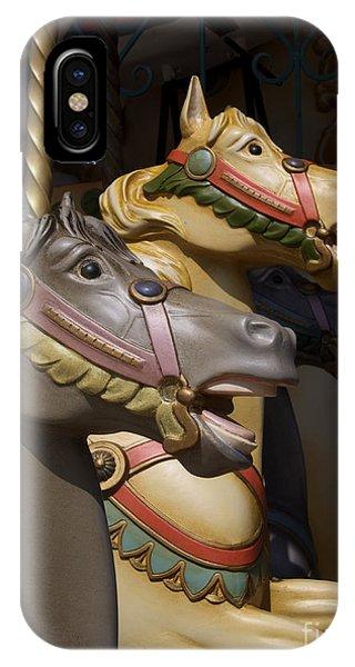 Funfair iPhone Case - Carousel Horses by Bernard Jaubert