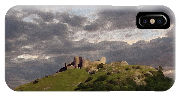 Carreg Cennen Castle North Face Phone Case by Anthony Forster