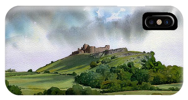 iPhone Case - Carreg Cennen North Tower by Anthony Forster