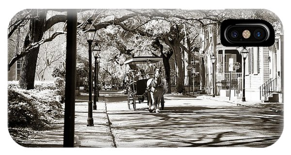Old School Galleries iPhone Case - Carriage Ride In Charleston by John Rizzuto