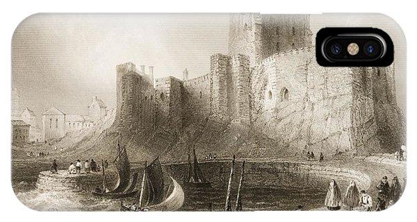 Carrickfergus Castle, County Antrim, Northern Ireland, From Scenery And Antiquities Of Ireland IPhone Case