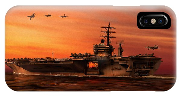 Uss Hornet iPhone Case - Carrier Ops At Dusk by Dale Jackson