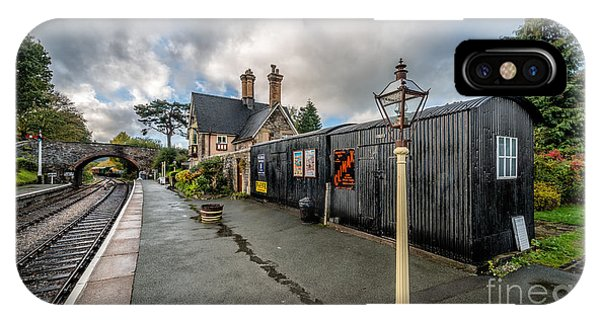 Railroad Station iPhone Case - Carrog Railway Station by Adrian Evans