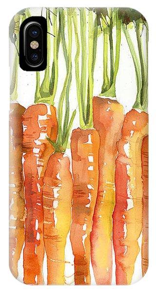 Food iPhone Case - Carrot Bunch Art Blenda Studio by Blenda Studio