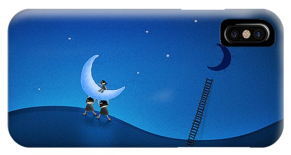 Moon iPhone Case - Carry The Moon by Gianfranco Weiss