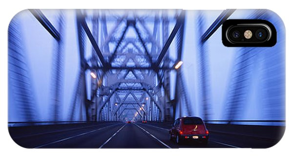 Cars On A Suspension Bridge, Bay IPhone Case