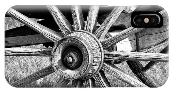 IPhone Case featuring the photograph Cart Wheel by Mae Wertz
