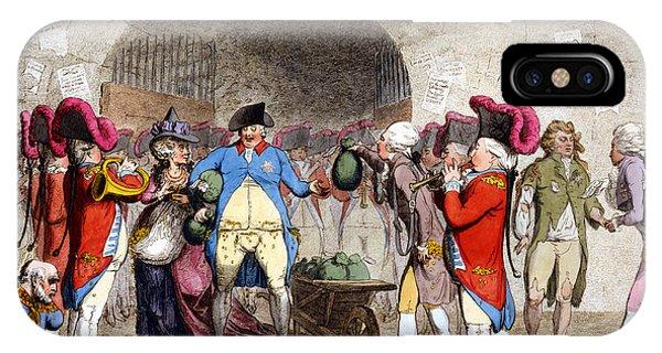Debts iPhone Case - Cartoon British Debt, 1786 by Granger