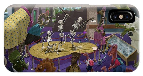 Cartoon Dinosaur Museum IPhone Case