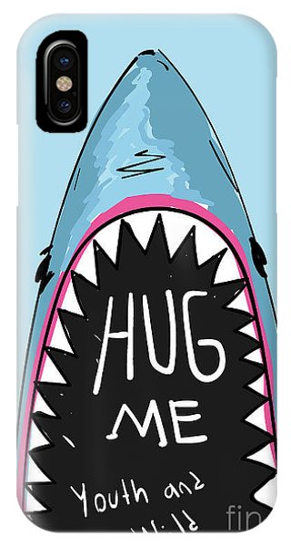 Danger iPhone Case - Cartoon Shark For Kids Clothing by Yusuf Doganay