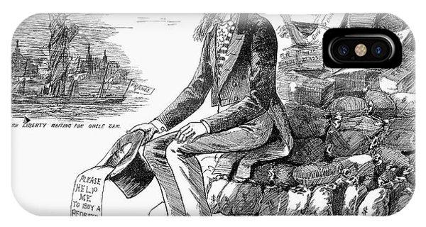 Debts iPhone Case - Cartoon Statue Of Liberty by Granger