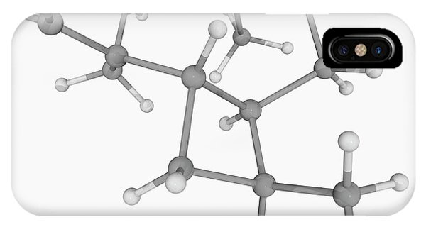 Organic Matter iPhone Case - Caryophyllene Molecule by Laguna Design/science Photo Library