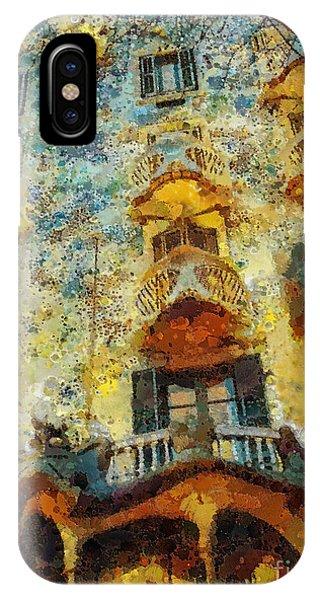 Gaudi iPhone Case - Casa Battlo by Mo T