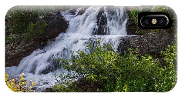 Indian Peaks Wilderness iPhone Case - Cascade Falls - Indian Peaks Wilderness by Aaron Spong