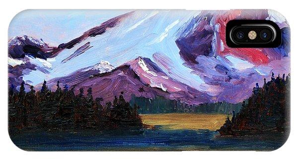 Rocky Mountain iPhone Case - Cascade Light by Nancy Merkle