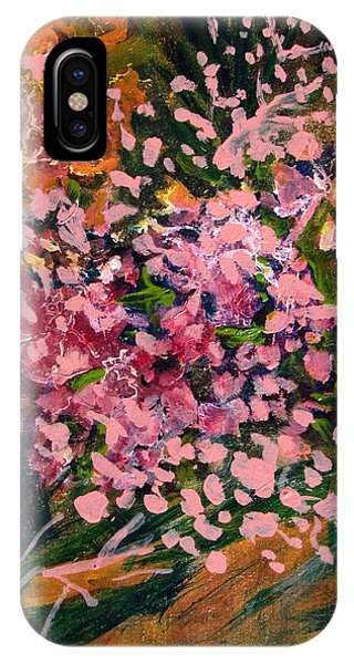 Cascade Of Pink Blossums IPhone Case