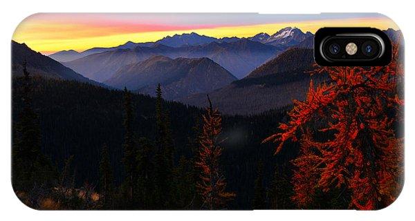 Cascades Sunrise IPhone Case