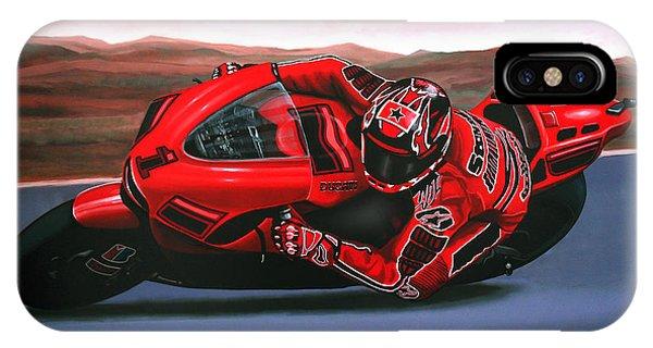 Casey Stoner On Ducati IPhone Case