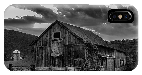 Casey's Barn-black And White  IPhone Case