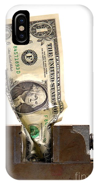Poverty iPhone Case - Cash Crunch by Olivier Le Queinec
