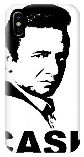 Johnny Cash iPhone Case - Cash by Jerry Gose Jr