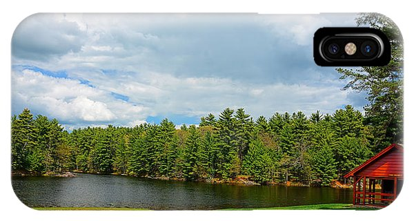 New England Barn iPhone Case - Casimir Pulaski Park by Lourry Legarde