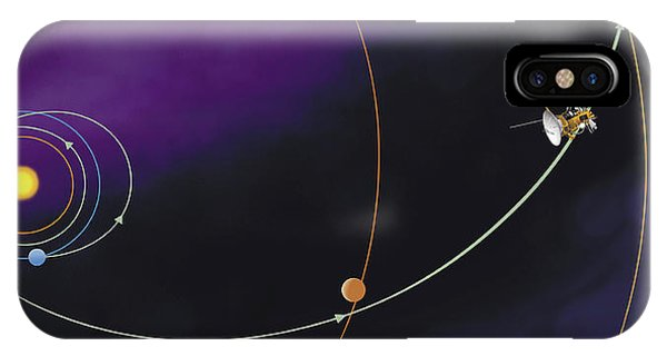 Spaceflight iPhone Case - Cassini-huygens Trajectory by Qai Publishing, Universal Images Group/science Photo Library