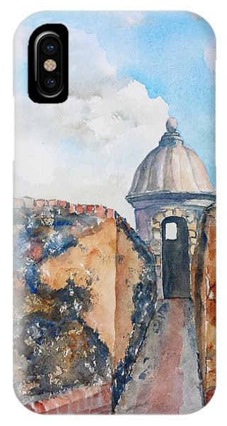 Castillo De San Cristobal Sentry Door IPhone Case