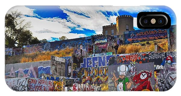 Austin Castle And Graffiti Hill IPhone Case