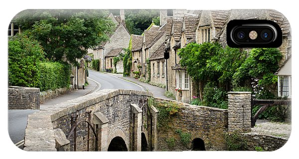 IPhone Case featuring the photograph Castle Combe Cotswolds Village by IPics Photography