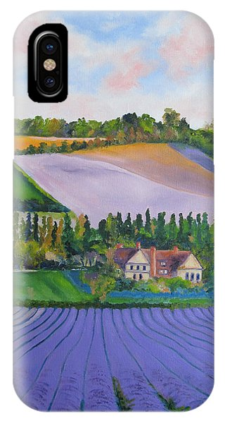 Castle Farm Shoreham Kent Lavender Fields England IPhone Case