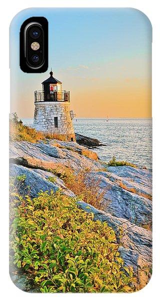 Castle Hill Lighthouse 1 Newport IPhone Case