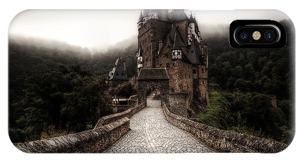 Castle iPhone X / XS Case - Castle In The Mist by Ryan Wyckoff