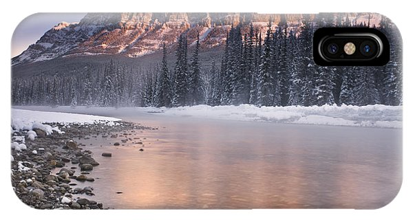 Castle Mountain And The Bow River IPhone Case