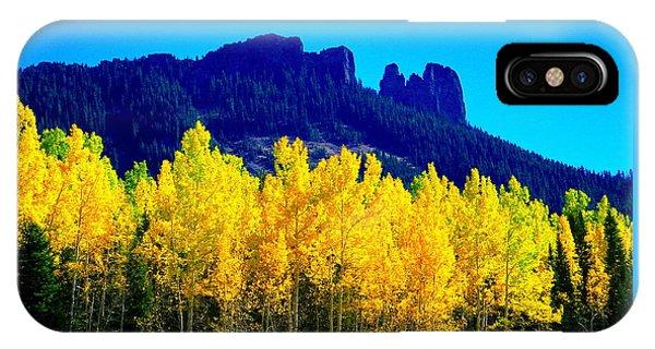 Autumn Castle Rock Aspens IPhone Case