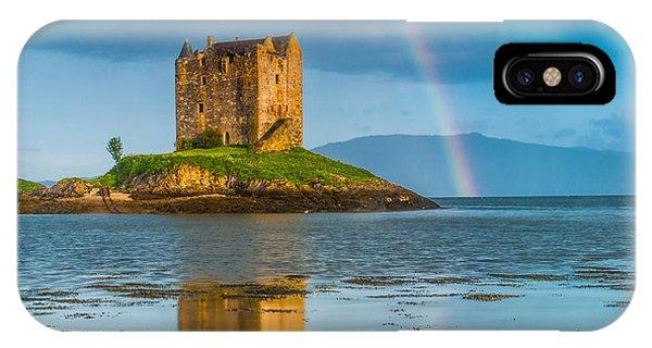Castle Stalker Rainbow Phone Case by David Ross