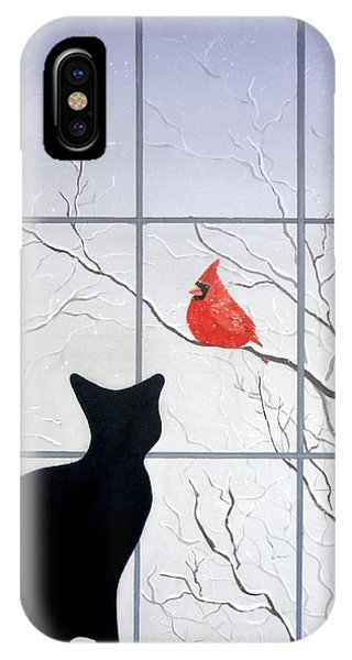 Cat And Cardinal IPhone Case