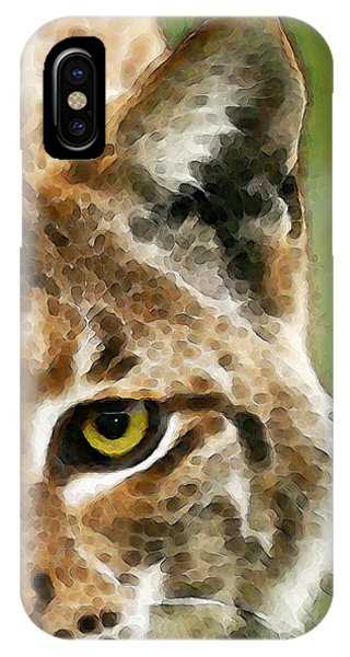 Lynx iPhone Case - Cat Art - Lynx 2 by Sharon Cummings