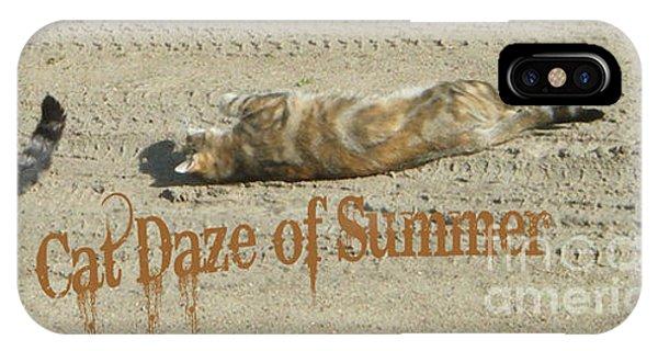 Cat Daze Of Summer IPhone Case