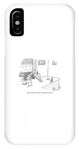 Cat Executive On Phone IPhone Case