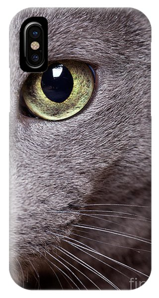 Detail iPhone Case - Cat Eye by Nailia Schwarz