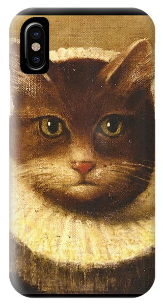 Cat In A Ruff IPhone Case
