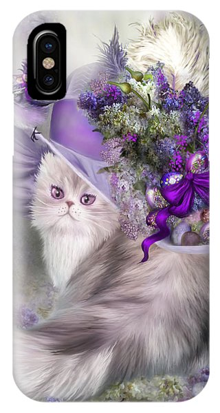 Cat In Easter Lilac Hat IPhone Case