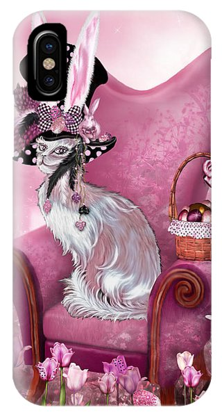 Cat In Mad Hatter Hat IPhone Case