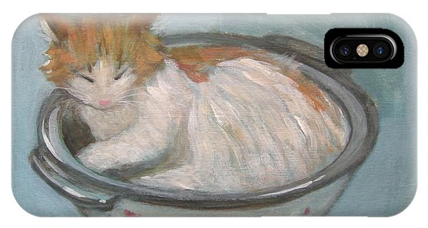 Cat In Casserole  IPhone Case